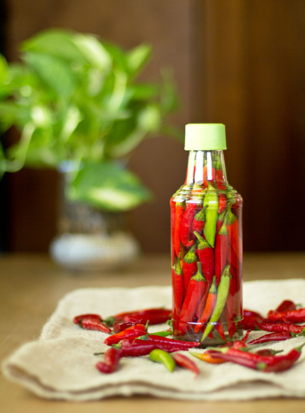 Make your own bottle of pepper sauce - it's so easy!