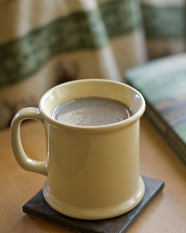 In New Mexico atole is toasted blue corn flour used to make a hot drink