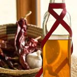 Red Chile infused oil with herbs and spices