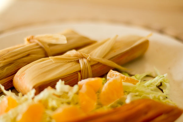 This red chile chicken tamale is a non-traditional tamale that is easy to make and is just as tasty as a traditionally made tamale. mjskitchen.com