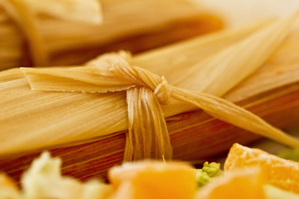 These red chile chicken tamales are non-traditional tamales that are easy to make, simple assembly, and canola oil in place of lard. mjskitchen.com