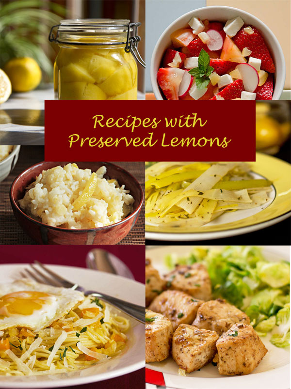 A host of recipes that used preserved lemons mjskitchen.com