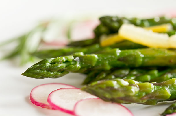 Asparagus Salad with a Preserved lemon Garlic Salad dressing mjskitchen.com @MJsKitchen