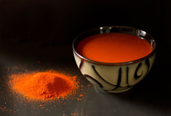 Red Chile Sauce made from chile powder mjskitchen.com @MJsKitchen
