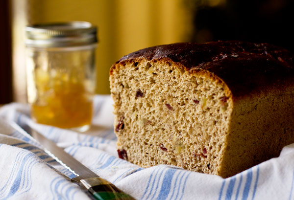 A slightly sweet and delicious yeast bread with dried and candied fruits and nuts. mjskitchen.com @MJsKitchen