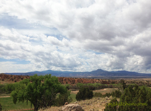 View of the Cerro Pedernal from Ghost Ranch in northern New Mexico mjskitchen.com @MJsKitchen