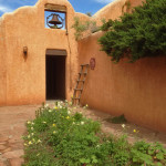 A courtyard at Ghost Ranch, northern New Mexico. mjskitchen.com @MJsKitchen