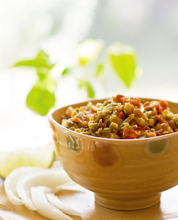 New Mexico green chile seasoned with lime zest for a refreshing relish. mjskitchen.com @MJsKitchen