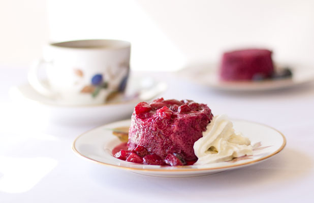 Mixed Berry Pudding (aka Summer Pudding) - just fresh berries, a little bread, and sweetener. mjskitchen.com