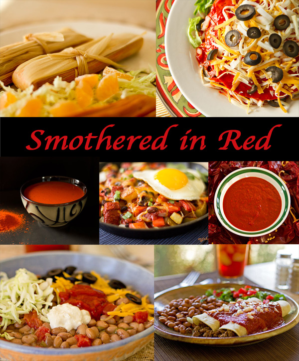 Smothered in Red - A collection of dishes smothered in New Mexico red chile sauce #red #chile @MJsKitchen