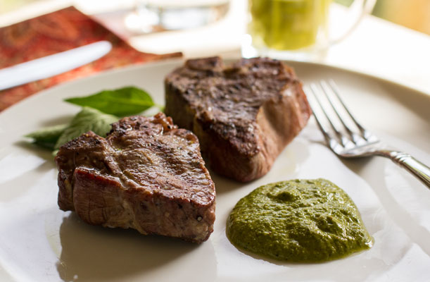 Grilled Lamb Chops with Spicy Mint Pesto | mjskitchen.com