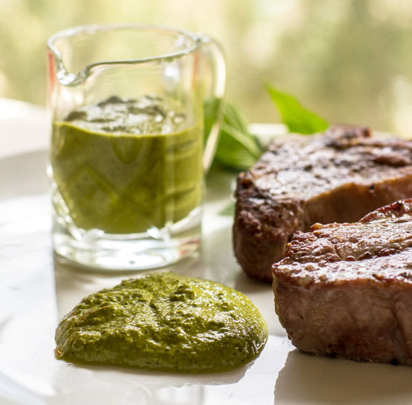 Mint Sauce with Lime and Red Chile Flakes | mjskitchen.com