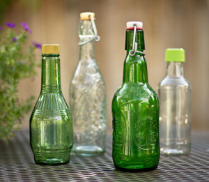 Repurpose bottles for infused vinegar