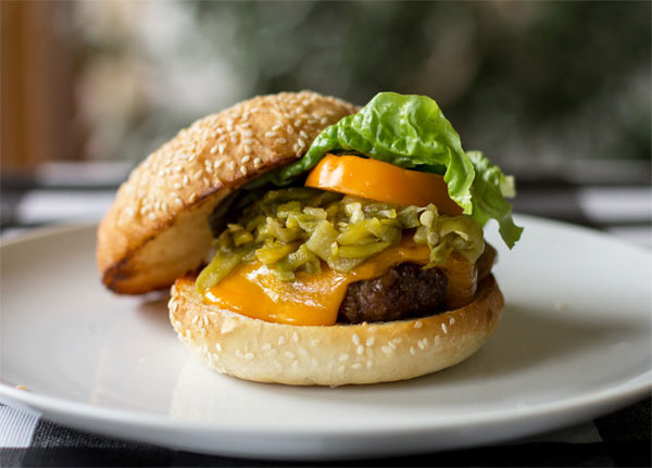 The quintessential Green Chile Cheeseburger   mjskitchen.com