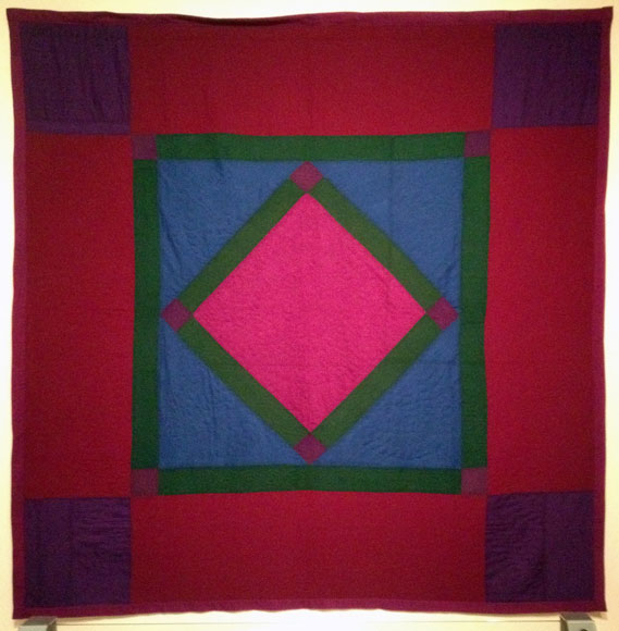 Amish Diamond in Square Quilt, Pennsylvania 1925