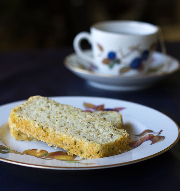 A slightly sweet lemon quick bread flavored with lemon and tarragon | mjskitchen.com