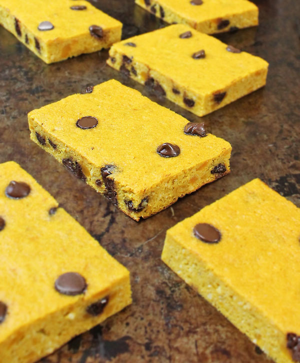Chocolate Chip and Kabocha Breakfast Bars