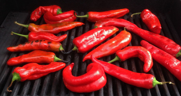 Roasting New Mexico red chile on the grill | mjskitchen.com