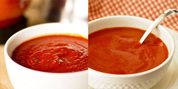 Comparison of two types of red chile sauces