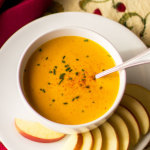 Pumpkin Beer Cheese soup with Zamorano and Parrano cheese   mjskitchen.com