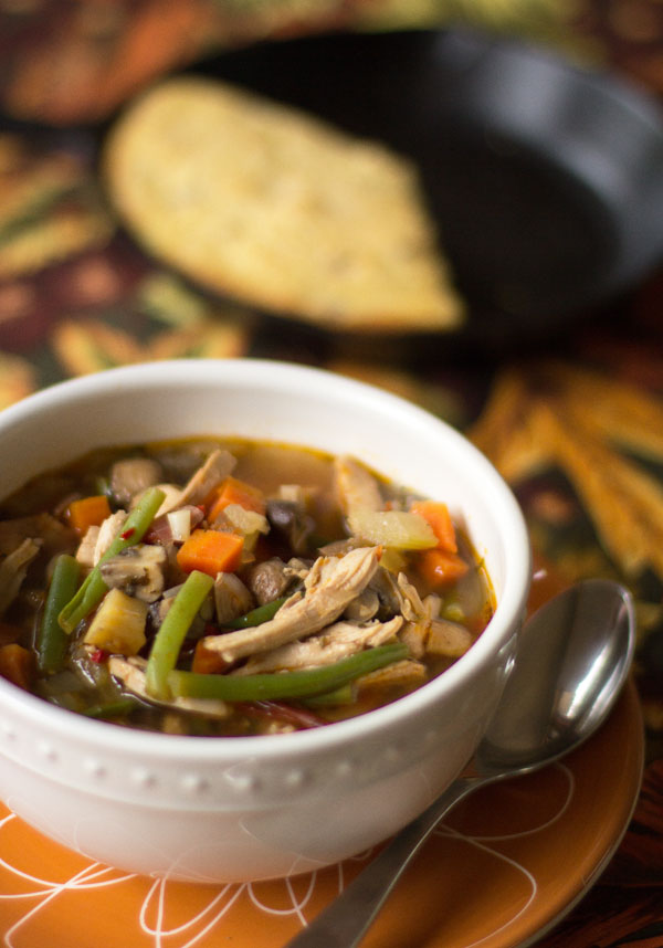 Using what's in the refrigerator to make Chicken and Vegetable Soup |mjskitchen.com