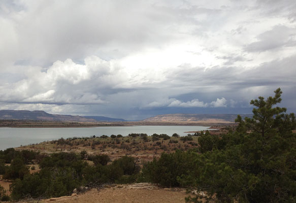 Abiquiu Reservoir in northern New Mexico