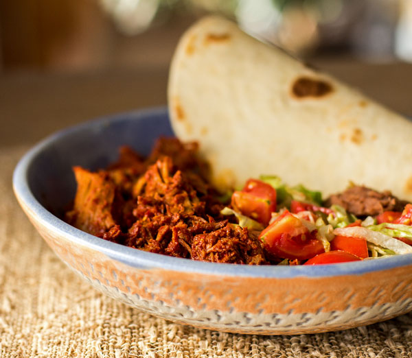 New Mexico carne adovada or pork marinated and slow-cooked in red chile | mjskitchen