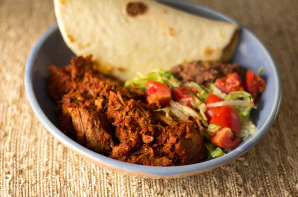 New Mexico carne adovada or pork marinated and slow-cooked in red ...