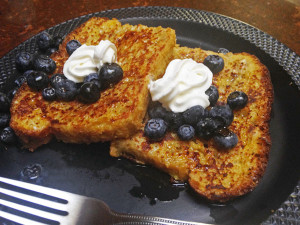 French Toast made with Fruit and Nut Yeast Bread @MJsKitchen