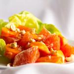 A simple salad of cara cara orange and persimmon   mjskitchen.com