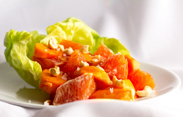A simple salad of cara cara orange and persimmon | mjskitchen.com