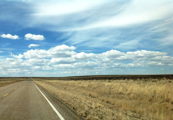 The road to Yeso, NM between Vaughn and Fort Sumner, NM | mjskitchen.com