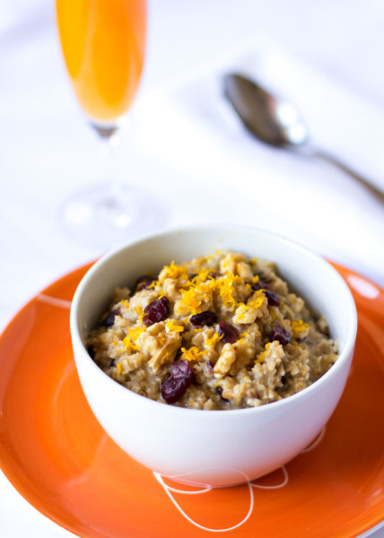 Steet cut oats with cranberries, orange and nuts. It tastes like cranberry bread! | mjskitchen.com