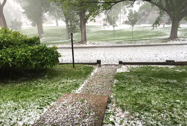 The hailstorm that hit Albuquerque May 4, 2015