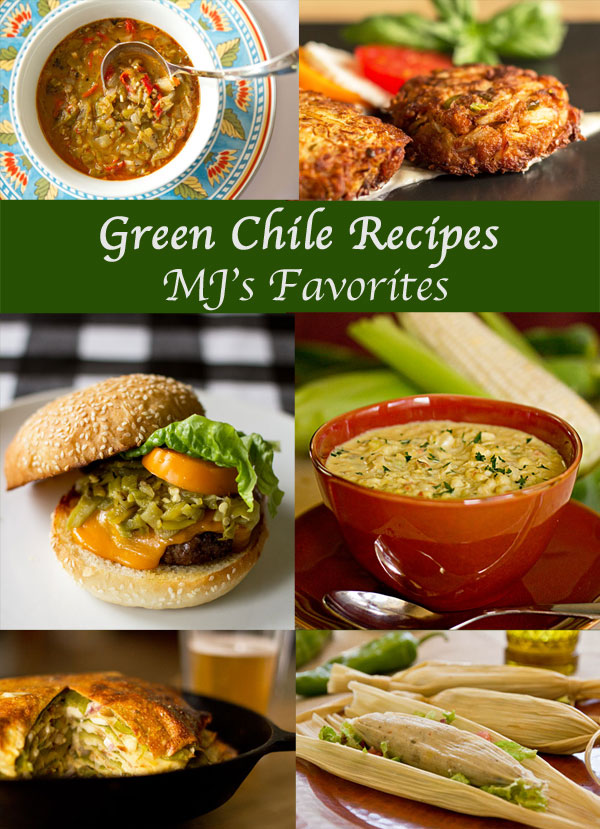 A collection of some of the best green chile recipes using New Mexico Green Chile. @mjskitchen #green #chile #recipes
