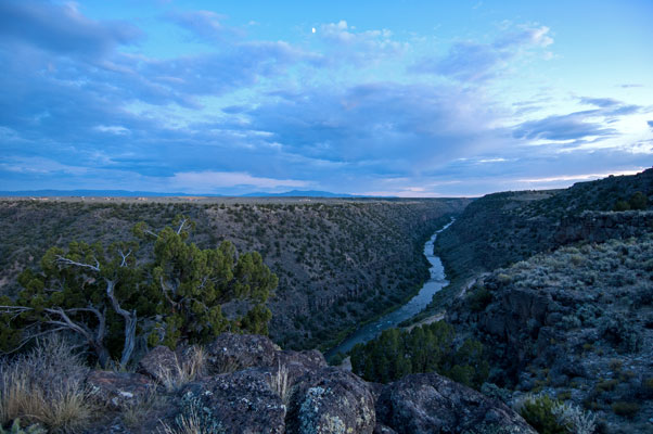 The Rio Grande north of Taos, New Mexico @mjskitchen