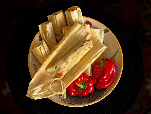 Red Chile Cheese Tamales #tamales mjskitchen.com