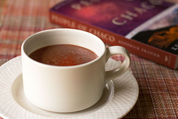 Spiced Chocolate Atole: Chocolate almond milk with atole (blue corn flour), red chile and other spices | mjskitchen.com