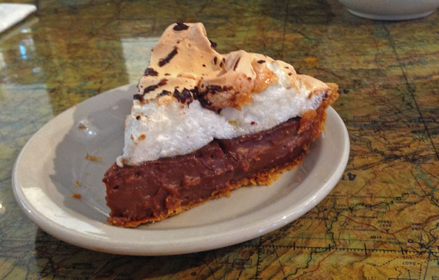 Chocolate Cream Pie from Pie-O-Neer in Pie Town, New Mexico | mjskitchen.com