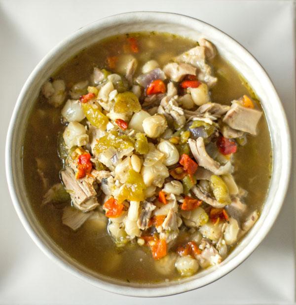 Green Chile Chicken Posole' is genuine comfort food. #green #chile #posole' @mjskitchen | mjskitchen.com