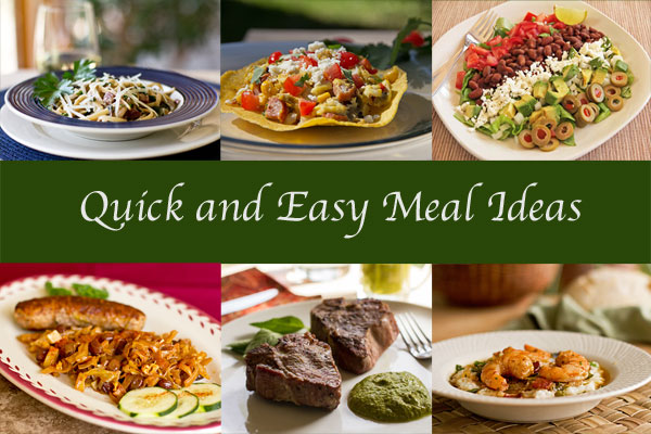 A Round up of Quick & Easy Meal Ideas   MJ's Kitchen