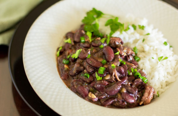 A hearty bowl of Red Beans and Rice with Tasso, a spicy Cajun pork | mjskitchen.com