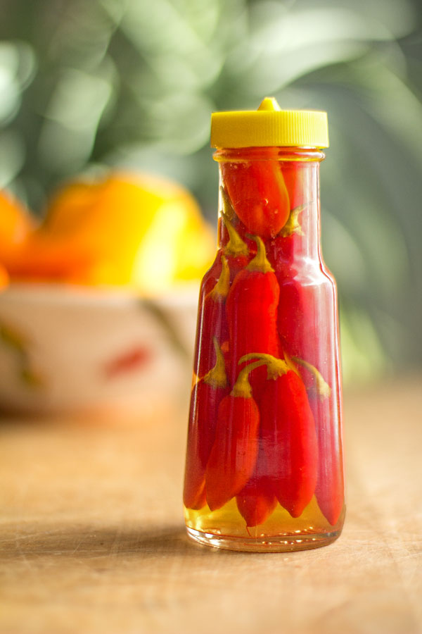 Pepper sauce made with Pimenta Reaper Peppers and olive brine #hot #Sauce @mjskitchen