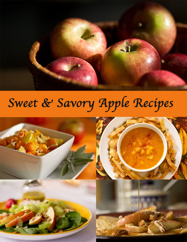 A scrumptious collection of sweet and savory apple recipes #apples #savory #recipes #sweet @mjskitchen