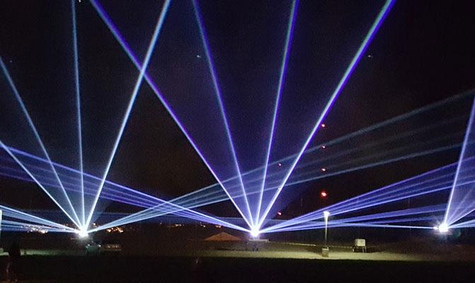 Laser light show at the Albuquerque International Balloon Fiesta mjskitchen.com