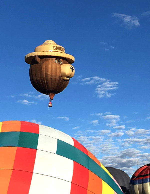Smokey Bear at the Albuquerque International Balloon Fiesta 2016 @mjskitchen