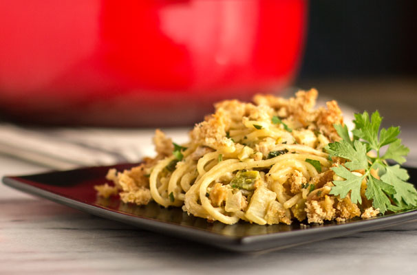 Classic chicken tetrazzini made with smoked chicken and roasted green chile | mjskitchen.com