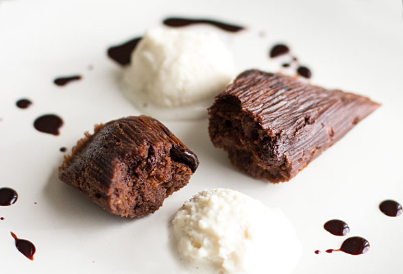 Chocolate tamales with port infused cherries and toasted pecans | mjskitchen.com