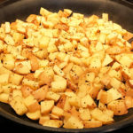 An easy method for making tasty potato Home fries on the stovetop | mjskitchen.com