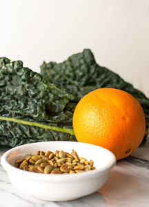 Dino Kale, Cara Cara and Toasted Pepitas - Ingredients for a healthy and easy salad